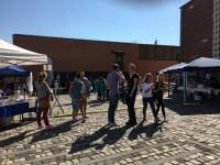 Das Lernfest auf dem Platz vor den 'Römerthermen - Museum der Badekultur'